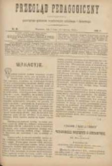 Przegląd Pedagogiczny:czasopismo poświęcone sprawom wychowania szkolnego i domowego 1888.07.01(06.19) R.7 Nr13