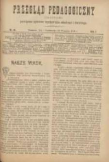 Przegląd Pedagogiczny:czasopismo poświęcone sprawom wychowania szkolnego i domowego 1888.10.01(09.19) R.7 Nr19