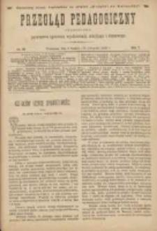 Przegląd Pedagogiczny:czasopismo poświęcone sprawom wychowania szkolnego i domowego 1888.12.01(11.19) R.7 Nr23