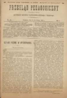 Przegląd Pedagogiczny:czasopismo poświęcone sprawom wychowania szkolnego i domowego 1888.12.15(03) R.7 Nr24