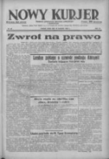 Nowy Kurjer: dziennik poświęcony sprawom politycznym i społecznym 1938.04.13 R.49 Nr85