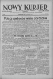 Nowy Kurjer: dziennik poświęcony sprawom politycznym i społecznym 1938.04.22 R.49 Nr92