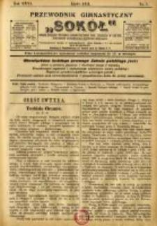"""Przewodnik Gimnastyczny """"Sokół"""": organ Związku Polskich Gimnastycznych Towarzystw Sokolich w Austryi 1911.07 R.31 Nr7"""