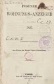Posener Wohnungs-Anzeiger auf das Jahr 1855