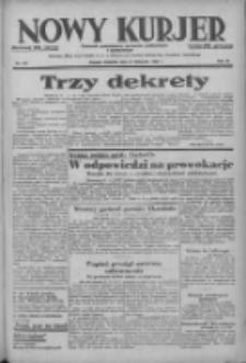 Nowy Kurjer: dziennik poświęcony sprawom politycznym i społecznym 1938.11.27 R.49 Nr272