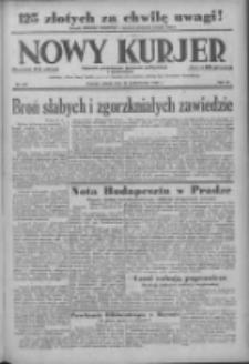 Nowy Kurjer: dziennik poświęcony sprawom politycznym i społecznym 1938.10.29 R.49 Nr249