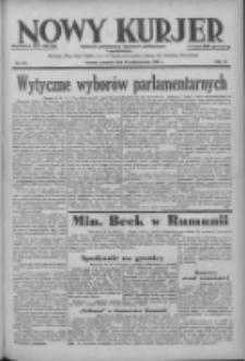 Nowy Kurjer: dziennik poświęcony sprawom politycznym i społecznym 1938.10.20 R.49 Nr241