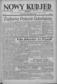 Nowy Kurjer: dziennik poświęcony sprawom politycznym i społecznym 1938.11.16 R.49 Nr262