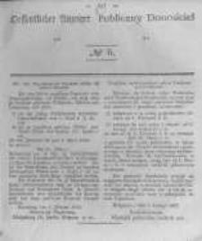 Oeffentlicher Anzeiger zum Amtsblatt No.6 der Königl. Preuss. Regierung zu Bromberg. 1843