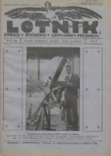 Lotnik: organ Związku Lotników Polskich 1925 R.2 Nr19(36)