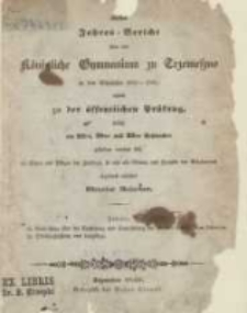 Jahresberichte über das Koenigliche Katholische Gymnasium zu Trzemeszno; Erster Jahres-Bericht 1839-1840
