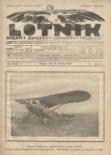 Lotnik: organ Związku Lotników Polskich: pismo dla wszystkich poświęcone sprawom lotnictwa cywilnego i wojskowego 1925.04.10 R.2 Nr6(23)