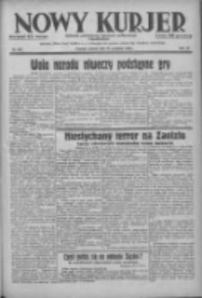 Nowy Kurjer: dziennik poświęcony sprawom politycznym i społecznym 1938.09.27 R.49 Nr221