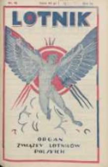 Lotnik: organ Związku Lotników Polskich 1926.05.15 R.3 Nr18(56)