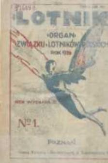 Lotnik: organ Związku Lotników Polskich 1926.01.02 R.3 Nr1(40)