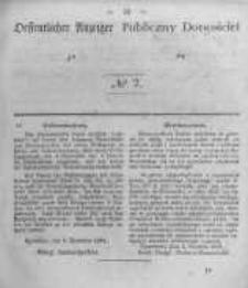 Oeffentlicher Anzeiger zum Amtsblatt No.2 der Königl. Preuss. Regierung zu Bromberg. 1845
