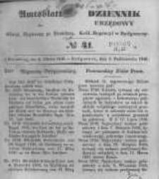 Amtsblatt der Königlichen Preussischen Regierung zu Bromberg. 1846.10.02 No.41
