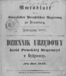Amtsblatt der Königlichen Preussischen Regierung zu Bromberg. 1847.01.01 No.1