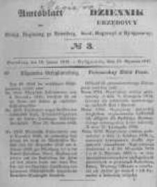 Amtsblatt der Königlichen Preussischen Regierung zu Bromberg. 1847.01.15 No.3