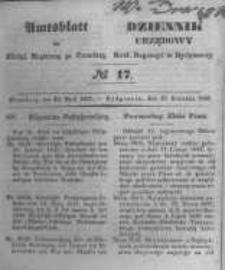 Amtsblatt der Königlichen Preussischen Regierung zu Bromberg. 1847.04.23 No.17