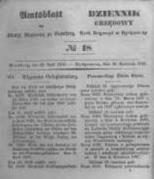 Amtsblatt der Königlichen Preussischen Regierung zu Bromberg. 1847.04.30 No.18