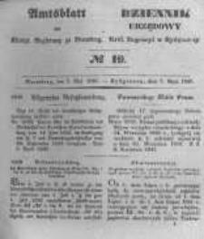 Amtsblatt der Königlichen Preussischen Regierung zu Bromberg. 1847.05.07 No.19