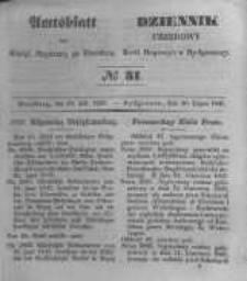 Amtsblatt der Königlichen Preussischen Regierung zu Bromberg. 1847.07.30 No.31