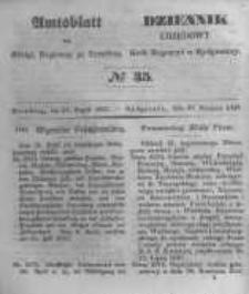 Amtsblatt der Königlichen Preussischen Regierung zu Bromberg. 1847.08.27 No.35