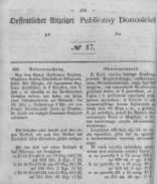 Oeffentlicher Anzeiger zum Amtsblatt No.17 der Königl. Preuss. Regierung zu Bromberg. 1847