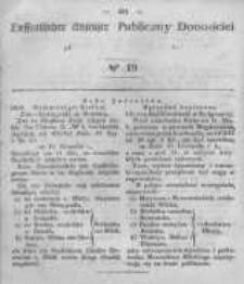 Oeffentlicher Anzeiger zum Amtsblatt No.19 der Königl. Preuss. Regierung zu Bromberg. 1847