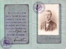 Paszport Józefa Kostrzewskiego z r. 1916