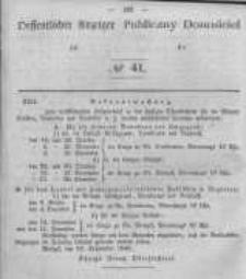 Oeffentlicher Anzeiger zum Amtsblatt No.41 der Königl. Preuss. Regierung zu Bromberg. 1846