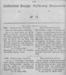 Oeffentlicher Anzeiger zum Amtsblatt No.51 der Königl. Preuss. Regierung zu Bromberg. 1846