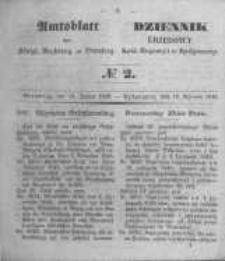 Amtsblatt der Königlichen Preussischen Regierung zu Bromberg. 1849.01.12 No.2