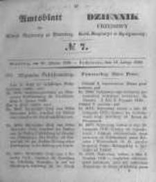Amtsblatt der Königlichen Preussischen Regierung zu Bromberg. 1849.02.16 No.7