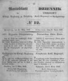 Amtsblatt der Königlichen Preussischen Regierung zu Bromberg. 1849.03.23 No.12