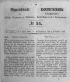 Amtsblatt der Königlichen Preussischen Regierung zu Bromberg. 1849.04.06 No.14