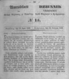 Amtsblatt der Königlichen Preussischen Regierung zu Bromberg. 1849.04.13 No.15