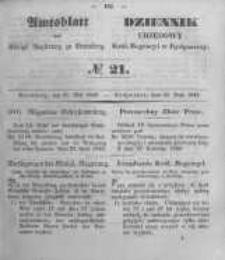 Amtsblatt der Königlichen Preussischen Regierung zu Bromberg. 1849.05.25 No.21