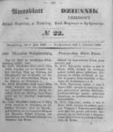 Amtsblatt der Königlichen Preussischen Regierung zu Bromberg. 1849.06.01 No.22