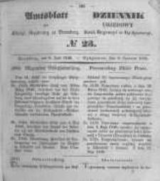 Amtsblatt der Königlichen Preussischen Regierung zu Bromberg. 1849.06.08 No.23