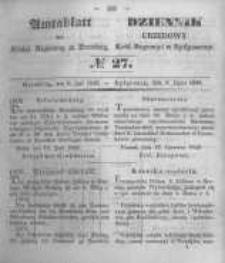 Amtsblatt der Königlichen Preussischen Regierung zu Bromberg. 1849.07.06 No.27