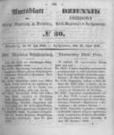 Amtsblatt der Königlichen Preussischen Regierung zu Bromberg. 1849.07.27 No.30