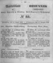 Amtsblatt der Königlichen Preussischen Regierung zu Bromberg. 1849.08.17 No.33