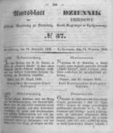 Amtsblatt der Königlichen Preussischen Regierung zu Bromberg. 1849.09.14 No.37