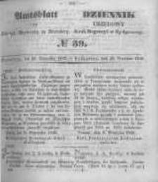 Amtsblatt der Königlichen Preussischen Regierung zu Bromberg. 1849.09.28 No.39