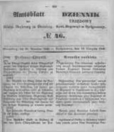 Amtsblatt der Königlichen Preussischen Regierung zu Bromberg. 1849.11.16 No.46