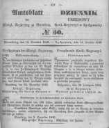 Amtsblatt der Königlichen Preussischen Regierung zu Bromberg. 1849.12.14 No.50