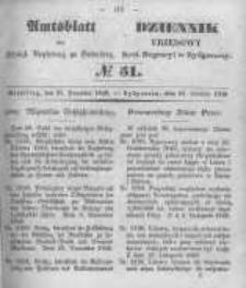 Amtsblatt der Königlichen Preussischen Regierung zu Bromberg. 1849.12.21 No.51