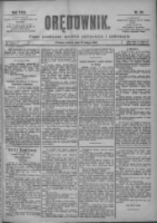 Orędownik: pismo poświęcone sprawom politycznym i spółecznym 1901.02.16 R.31 Nr39